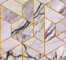 Vintage hexagonal marble Sticker