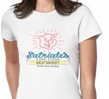 Satriale's - Red Piggy Variant Womens Fitted T-Shirt