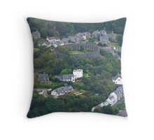 Oban from Above Throw Pillow