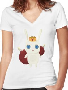 King Rabbit - Bombs! Women's Fitted V-Neck T-Shirt