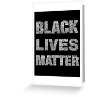 Black Lives Matter Greeting Card