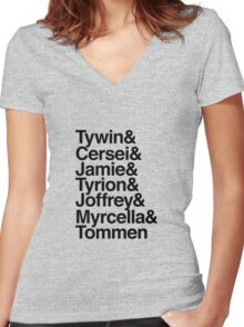 Lannister House Members Women's Fitted V-Neck T-Shirt