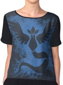 pokemon go : team mystic Chiffon Top