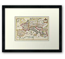 Vintage Map of Europe (1657) Framed Print