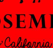 YOSEMITE NATIONAL PARK CALIFORNIA ORIGINAL 1890 RED Sticker