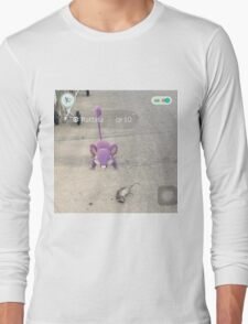 pokemon go is real! Long Sleeve T-Shirt