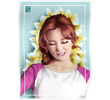 Wheein over flowers Poster