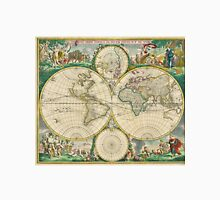 Vintage Map of The World (1670) Unisex T-Shirt