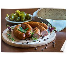 Sausage in dish Poster