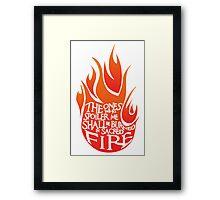 Sacred fire - red Framed Print