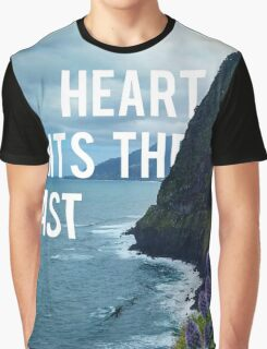 My Heart Wants The Coast Graphic T-Shirt