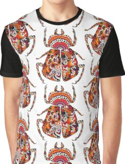 Red and Orange Beetle Graphic T-Shirt