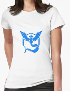 TEAM MYTSTIC LOGO - POKEMON GO Womens Fitted T-Shirt