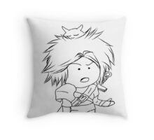 Adventure, Chibi, Anime  Throw Pillow