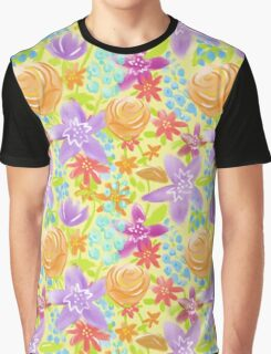 Fun Flowers Summer Garden Graphic T-Shirt