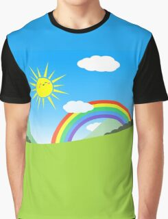 Happy Colorful Planet 03 Graphic T-Shirt