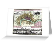 London - England - 1740 Greeting Card