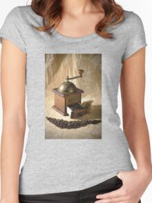 Coffee Grinder Women's Fitted Scoop T-Shirt