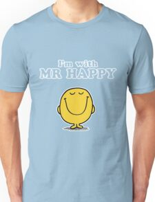 I'm with Mr Happy Unisex T-Shirt