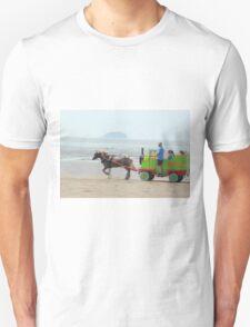 Sparkle Horse carriage on Beach Unisex T-Shirt