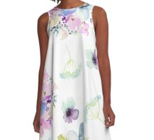 Watercolor flowers A-Line Dress