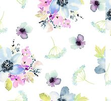 Watercolor flowers by Biana-B-Unique