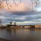 Water sky and royal naval college by Arvind Singh