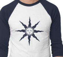 Praise The Sun - J. D. Salinger Quote (navy) Men's Baseball ¾ T-Shirt