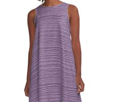 Regal Orchid Wood Grain Texture A-Line Dress