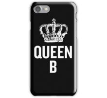 Queen B (White) iPhone Case/Skin
