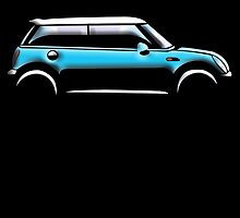 Mini Car - Blue BMW by TOM HILL - Designer
