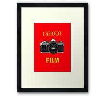 I Shoot Film Framed Print