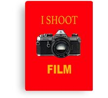 I Shoot Film Canvas Print