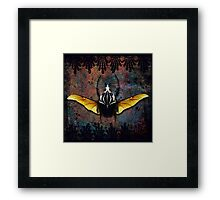 Vlad Tepes Insectus, winged beetle, gothic theme Framed Print