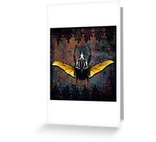 Vlad Tepes Insectus, winged beetle, gothic theme Greeting Card