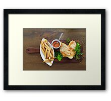 authentic mexican barbacoa, carnitas and chicken tacos Framed Print