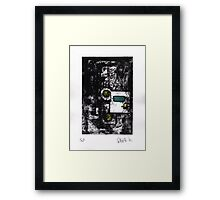 Proof/Test (yellow and green untitled) 2014 Framed Print