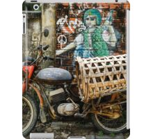 Vietnamese pig carrier against a peaceful sign iPad Case/Skin