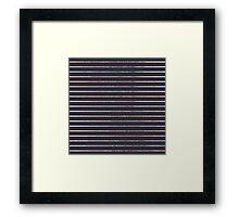 Elegant Chic Rose Gold Stripes and Navy Blue Framed Print