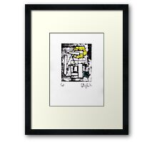 Proof/Test (yellow and green pyramid) 2014 Framed Print
