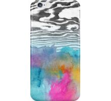 Modern colorful watercolor abstract wood grain iPhone Case/Skin