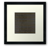 Elegant Chic Yellow Gold Stripes and Black Framed Print