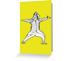 Yogi bear pose - Warrior 2  Greeting Card
