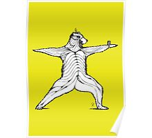 Yogi bear pose - Warrior 2  Poster