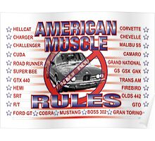 American Muscle Rules • Screw BMW! Poster