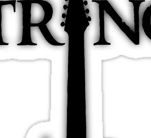 Lord of the Strings (black) Sticker