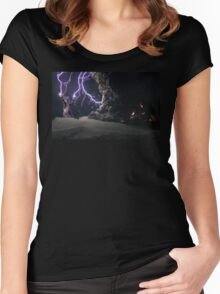 Cat Lightning  Women's Fitted Scoop T-Shirt