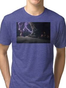Cat Lightning  Tri-blend T-Shirt