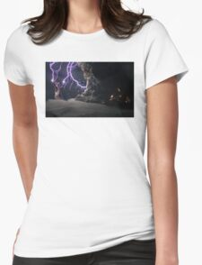 Cat Lightning  Womens Fitted T-Shirt