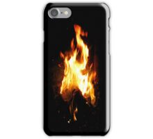 Fire on a Dark Background - Cases, Prints, Pillows and More iPhone Case/Skin